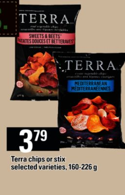 Terra Chips Or Stix - 160-226 g