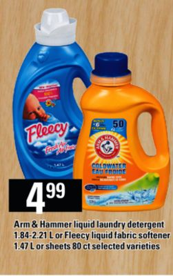 ARM & HAMMER LAUNDRY DETERGENT ON SALE