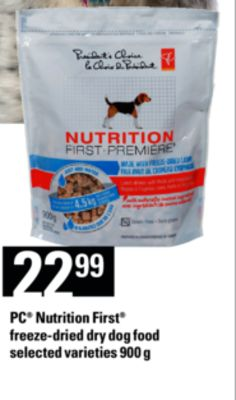 PC Nutrition First Freeze-dried Dry Dog Food - 900 g