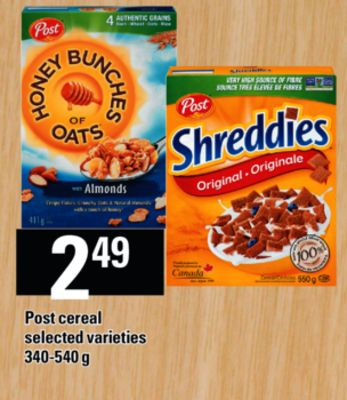 Post Cereal - 340-540 g