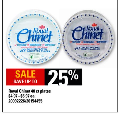 Royal Chinet 40 Ct Plates