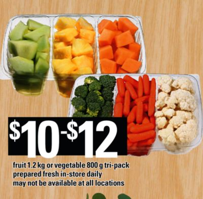 Fruit - 1.2 Kg or Vegetable - 800 g Tri-pack