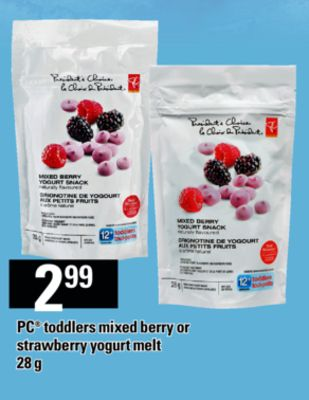 PC Toddlers Mixed Berry Or Strawberry Yogurt Melt - 28 g
