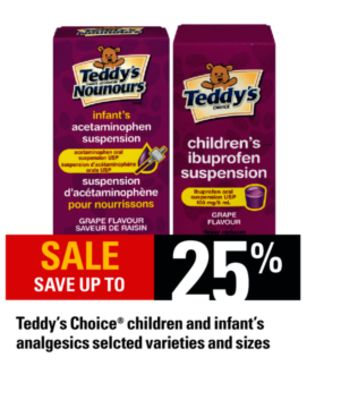 Teddy's Choice Children And Infant's Analgesics