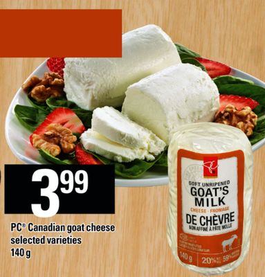 PC Canadian Goat Cheese - 140 g