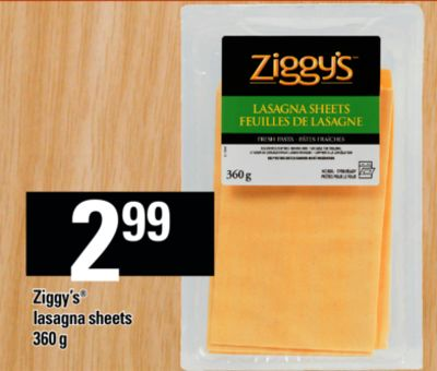Ziggy's Lasagna Sheets - 360 g
