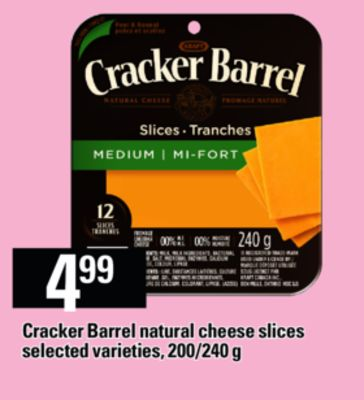 Cracker Barrel Natural Cheese Slices - 200/240 g