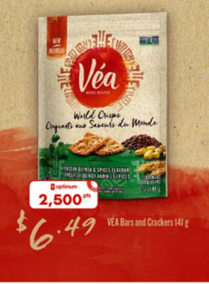 Véa Bars And Crackers - 141 g