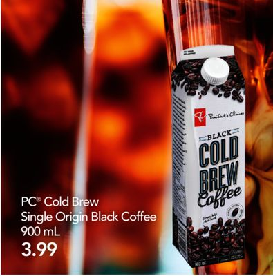 PC Cold Brew Single Origin Black Coffee - 900 Ml