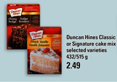 Duncan Hines Classic Or Signature Cake Mix - 432/515 g