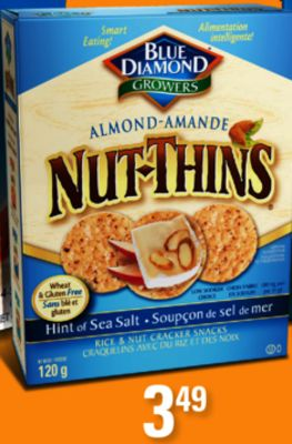 Blue Diamond Nut-thins - 120g