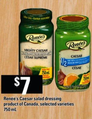 Renée's Caesar Salad Dressing - 750 mL