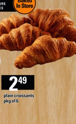 Plain Croissants - Pkg of 6
