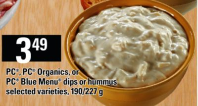 PC - PC Organics - Or PC Blue Menu Dips Or Hummus - 190/227 g