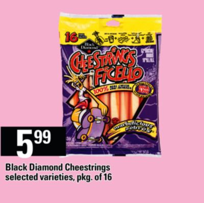 Black Diamond Cheestrings - Pkg of 16