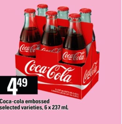 Coca-cola Embossed - 6 X 237 mL