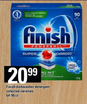 Finish Dishwasher Detergent - 64-90 Ct