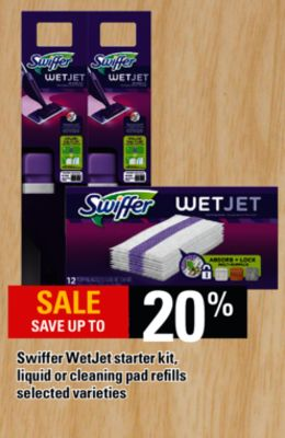 Swiffer Wetjet Starter Kit - Liquid Or Cleaning Pad Refills