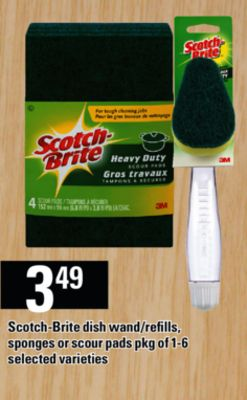 Scotch-brite Dish Wand/refills - Sponges Or Scour Pads - Pkg of 1-6