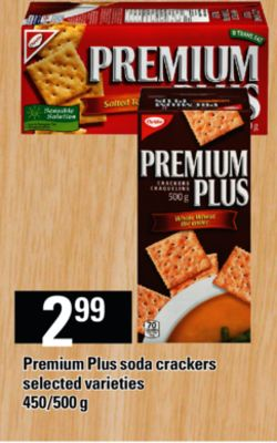 Premium Plus Soda Crackers - 450/500 g
