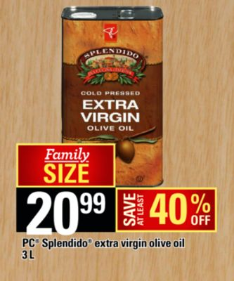 PC Splendido Extra Virgin Olive Oil - 3 L