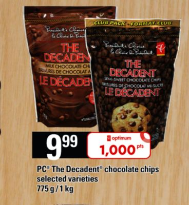 PC The Decadent Chocolate Chips - 775 g / 1 Kg