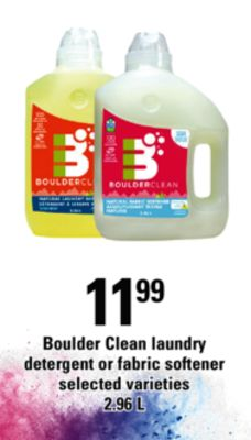 Boulder Clean Laundry Detergent Or Fabric Softener - 2.96 L