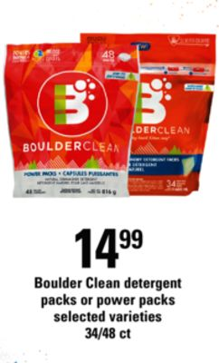 Boulder Clean Detergent Packs Or Power Packs - 34/48 Ct