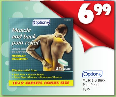 Option + Muscle & Back Pain Relief