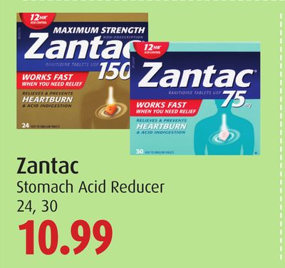 Zantac Stomach Acid Reducer