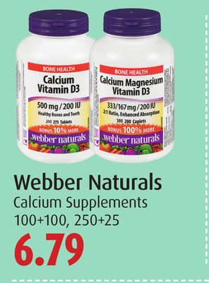 Webber Naturals Calcium Supplements
