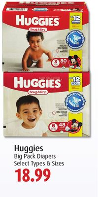 Huggies Big Pack Diapers