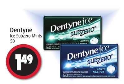 Dentyne Ice Subzero Mints