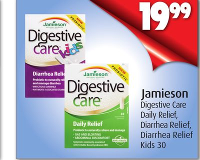 Jamieson Digestive Care Daily Relief - Diarrhea Relief - Diarrhea Relief Kids