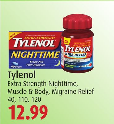 Tylenol Extra Strength Nighttime - Muscle & Body - Migraine Relief