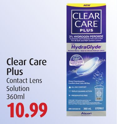 Clear Care Plus Contact Lens Solution
