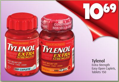 Tylenol Extra Strength Easy Open Caplets - Tablets