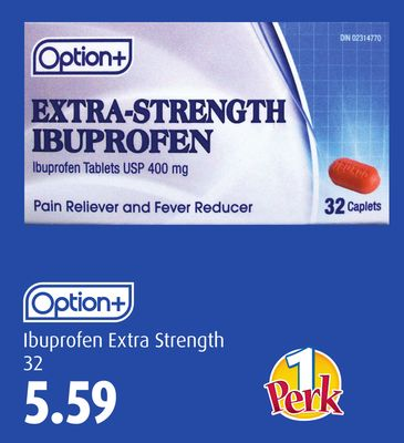 Option+ Ibuprofen Extra Strength