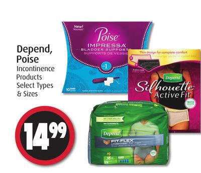 Depend - Poise Incontinence Products