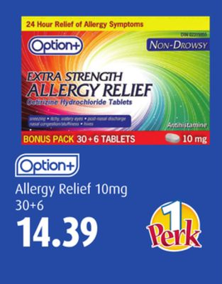 Option+ Allergy Relief 10mg