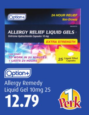 Option+ Allergy Remedy Liquid Gel