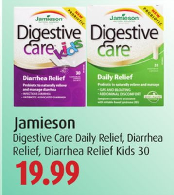 Jamieson Digestive Care Daily Relief - Diarrhea Relief - Diarrhea Relief Kids 30