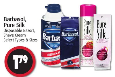 Barbasol - Pure Silk Disposable Razors - Shave Cream