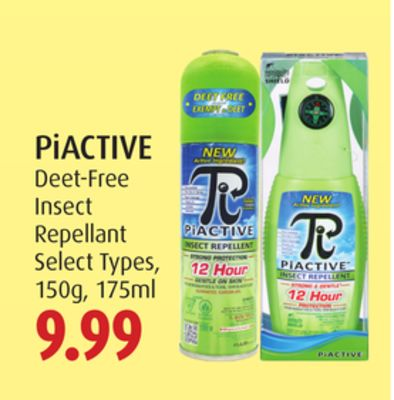 Piactive Deet-free Insect Repellant