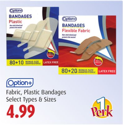 Option+ Fabric - Plastic Bandages