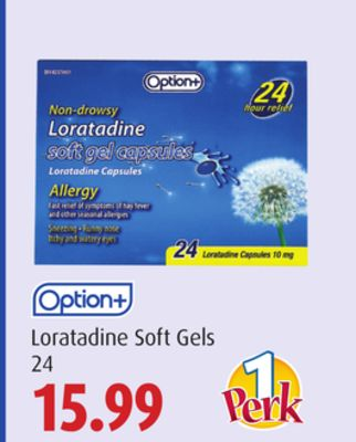 Option+ Loratadine Soft Gels