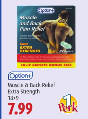Option+ Muscle & Back Relief Extra Strength