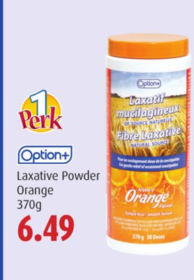Option+ Laxative Powder Orange 370g