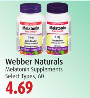 Webber Naturals Melatonin Supplements
