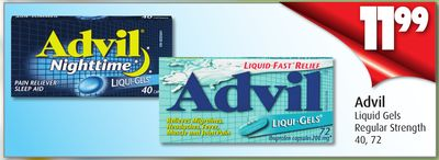 Advil Liquid Gels Regular Strength 40 - 72